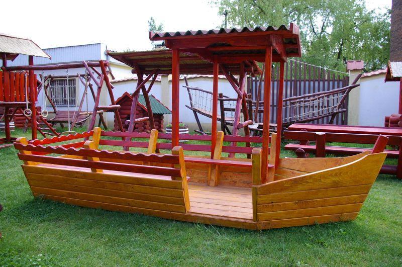как построить лодку для детской площадки